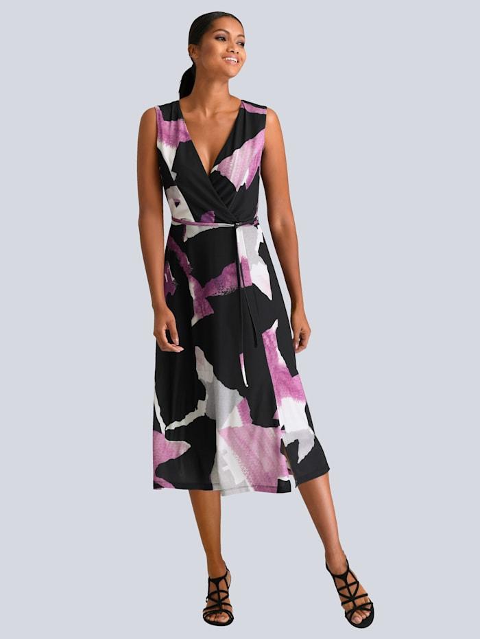 Kleid in modischen Grafik Print