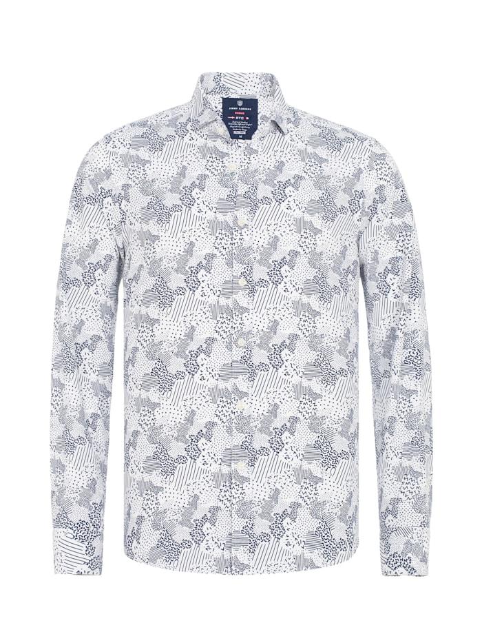Jimmy Sanders Hemd Romano mit abstraktem Muster-Mix, white