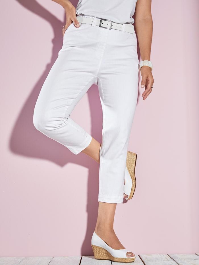MIAMODA Jegging 7/8 à taille entièrement extensible, Blanc