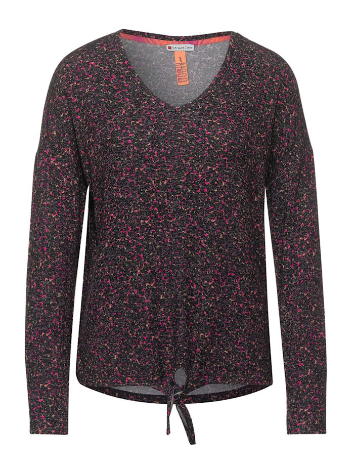 Street One Cosy Shirt mit Minimal Print, phlox pink