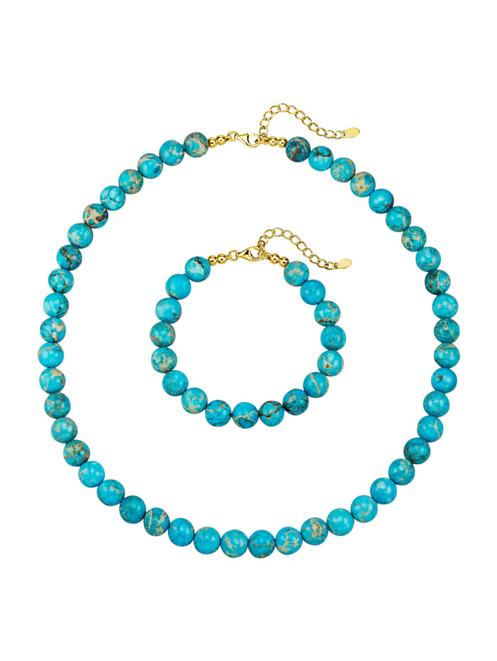 Diemer Farbstein 2-delige sieradenset, Turquoise