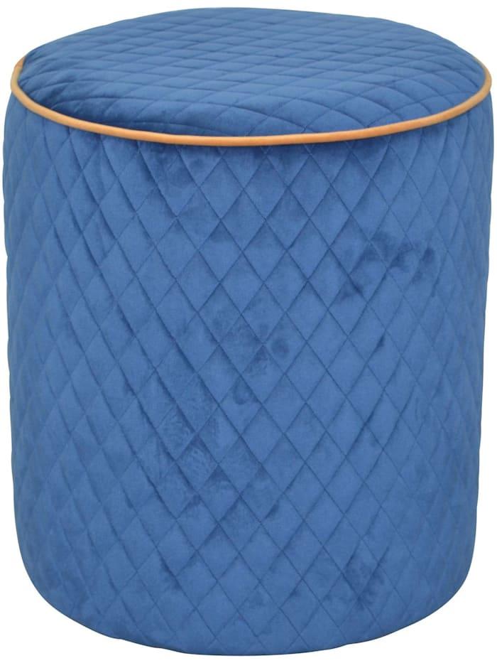 Möbel-Direkt-Online Sitzpouf Anika, blau