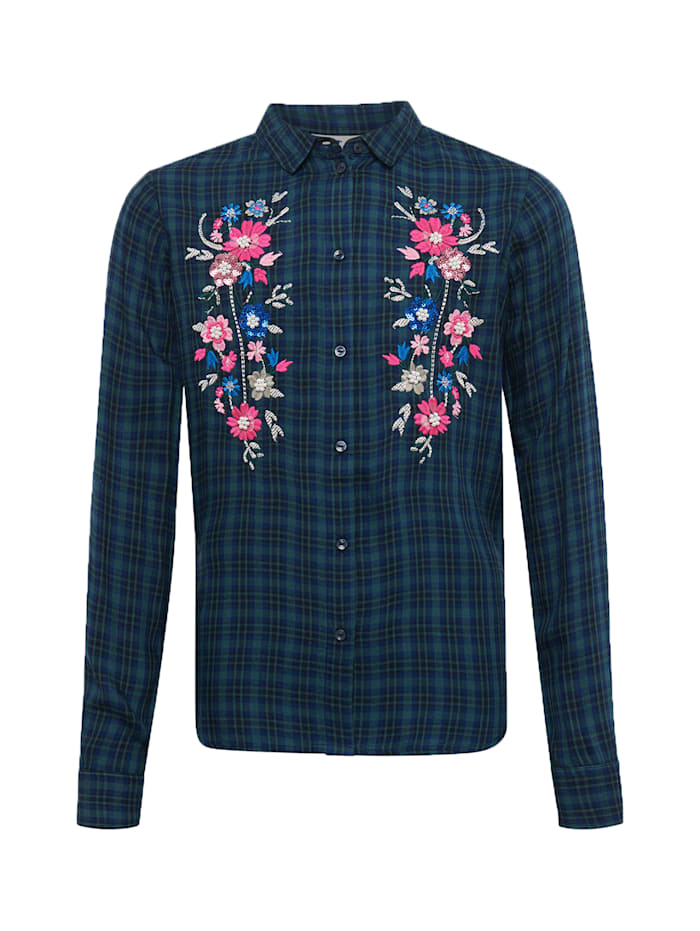 Tom Tailor Karierte Bluse mit Blumenmuster, y/d check|multicolored