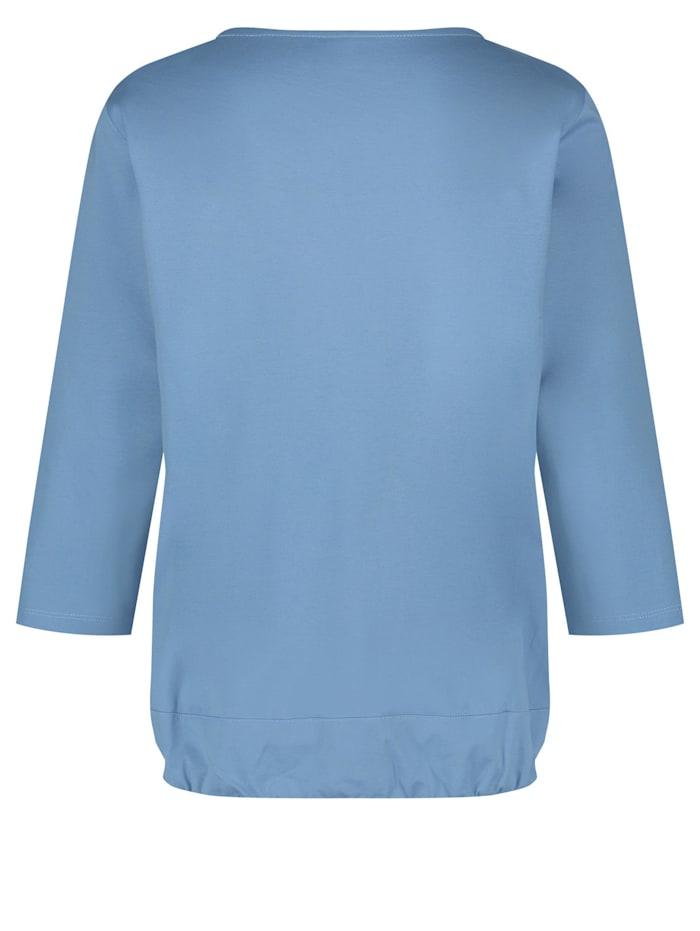 3/4 Arm Shirt mit feinem Glanz