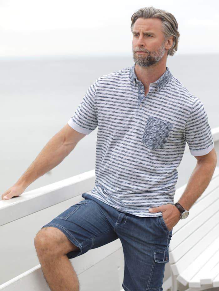 BABISTA Poloshirt mit Brusttasche, Weiß/Blau