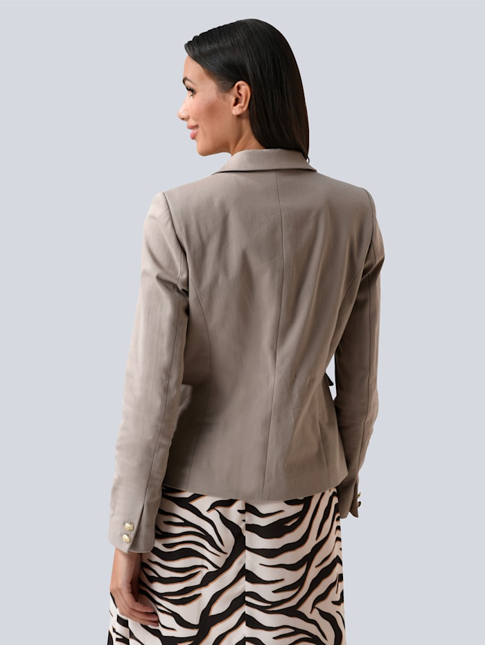 Blazer mit Zipperdetail