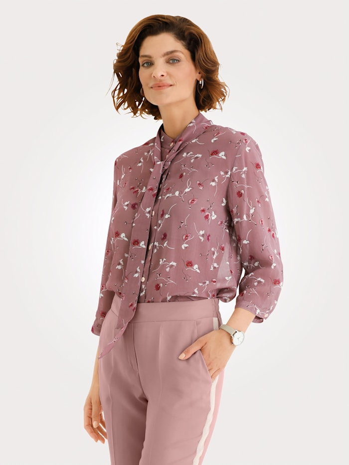 Bluse mit abnehmbarer Schluppe