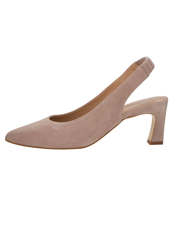 Slingback shoes in premium suede leather