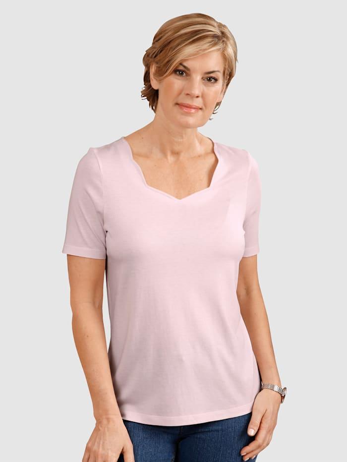 Dress In Tričko s pekným výstrihom, Ružová
