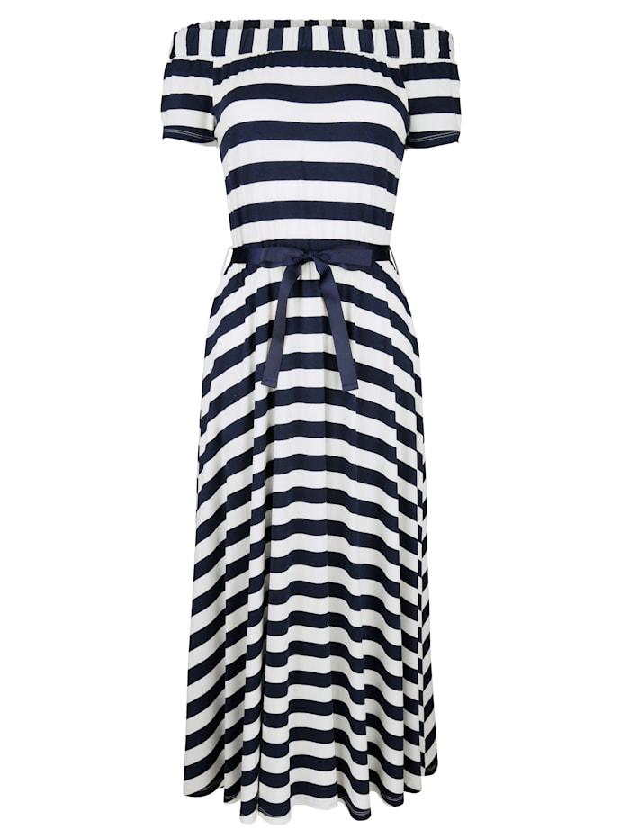 Jerseykleid im Streifendesign