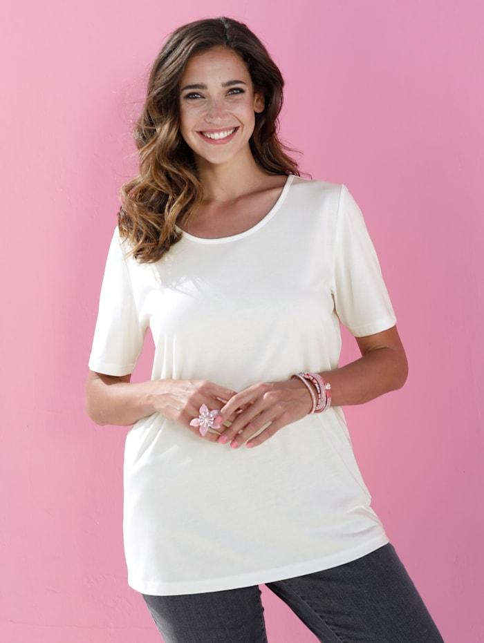 MIAMODA Shirt in kurzer Länge, Off-white
