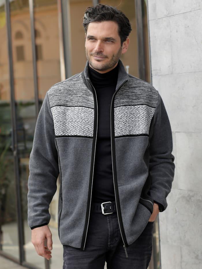 BABISTA Fleece vest met luxueuze gebreide inzet, Grijs