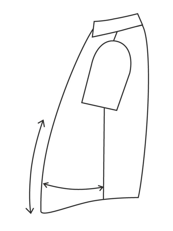 Erityismitoitettu lyhythihainen kauluspaita