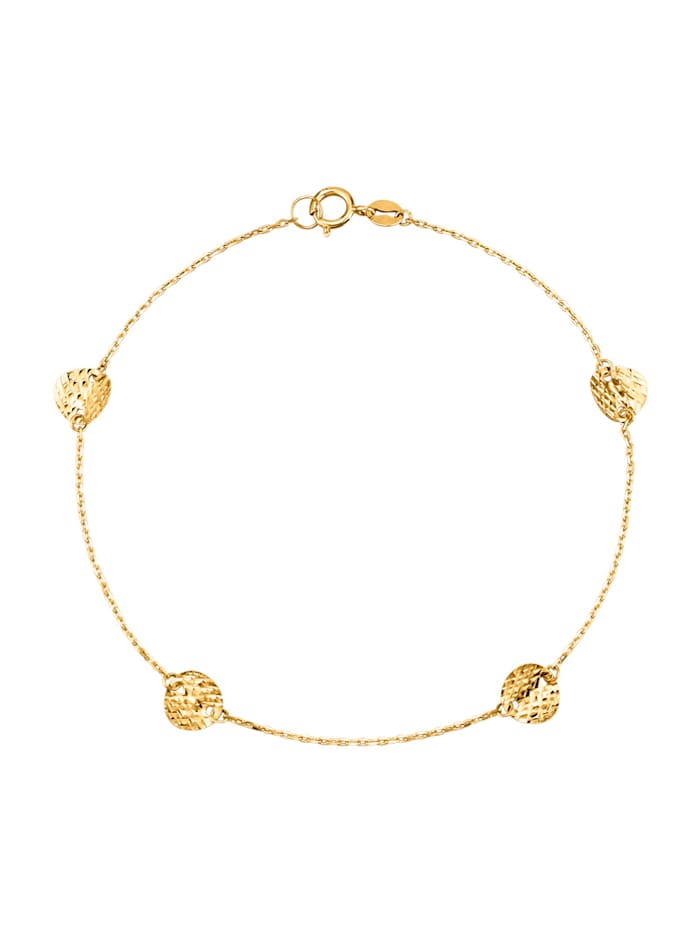 Armband med snirkliga detaljer, Guldfärgad