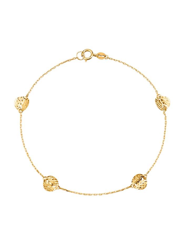 KLiNGEL Bracelet en or jaune 375, Coloris or jaune