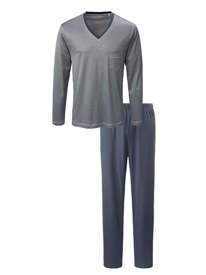 Calida Pyjama lang Made in Europe, onyx