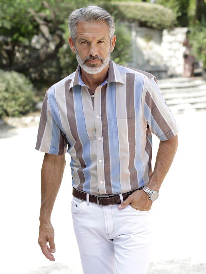 BABISTA Overhemd van licht materiaal, Beige/Blauw