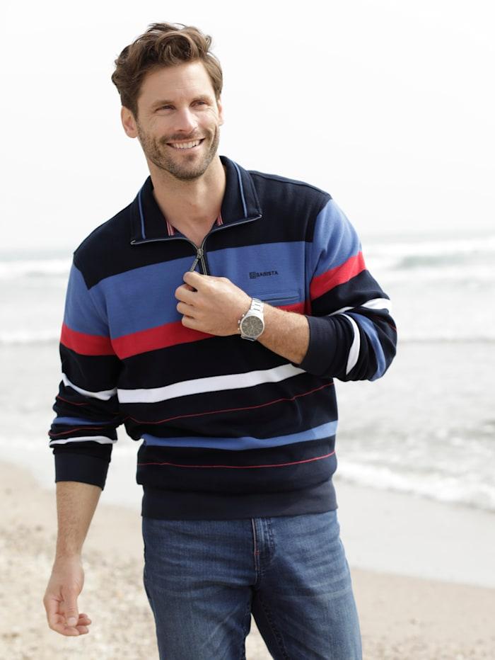 BABISTA Sweatshirt in Piqué-Qualität, Marineblau/Royalblau