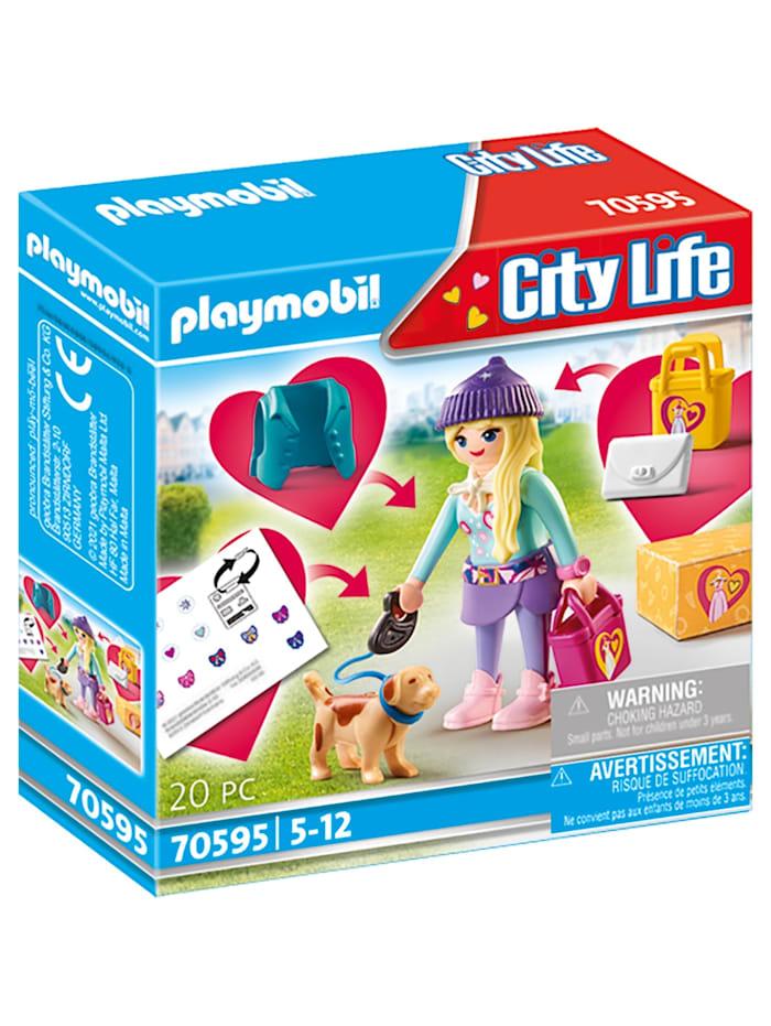 PLAYMOBIL Konstruktionsspielzeug Fashion Girl mit Hund, Bunt