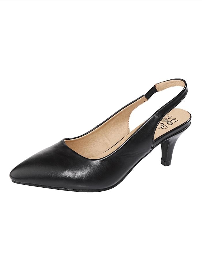Liva Loop Sling back -kengät, Musta
