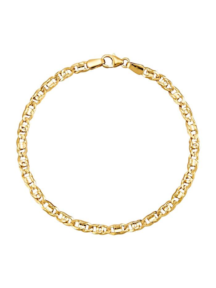 Tigeraugearmband in Gelbgold 375, Gelbgoldfarben