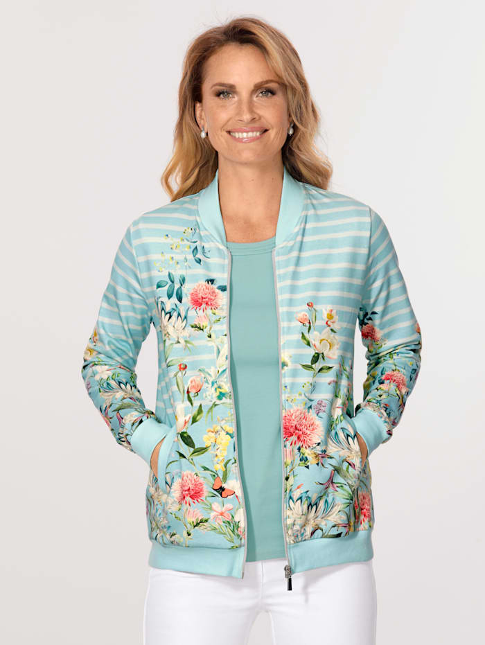Jacket in a mixed print