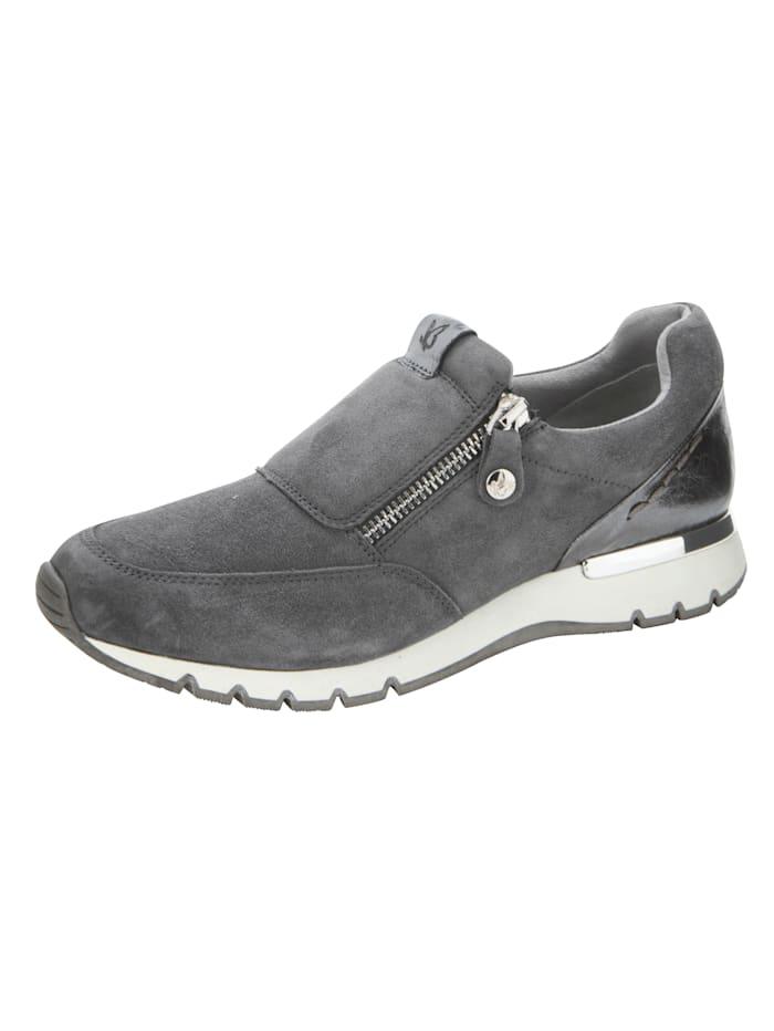 Caprice Sneakers en cuir velours de chevreau, Gris