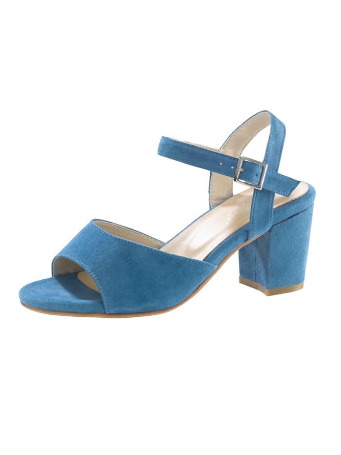 Sandale in modischer Optik, Hellblau