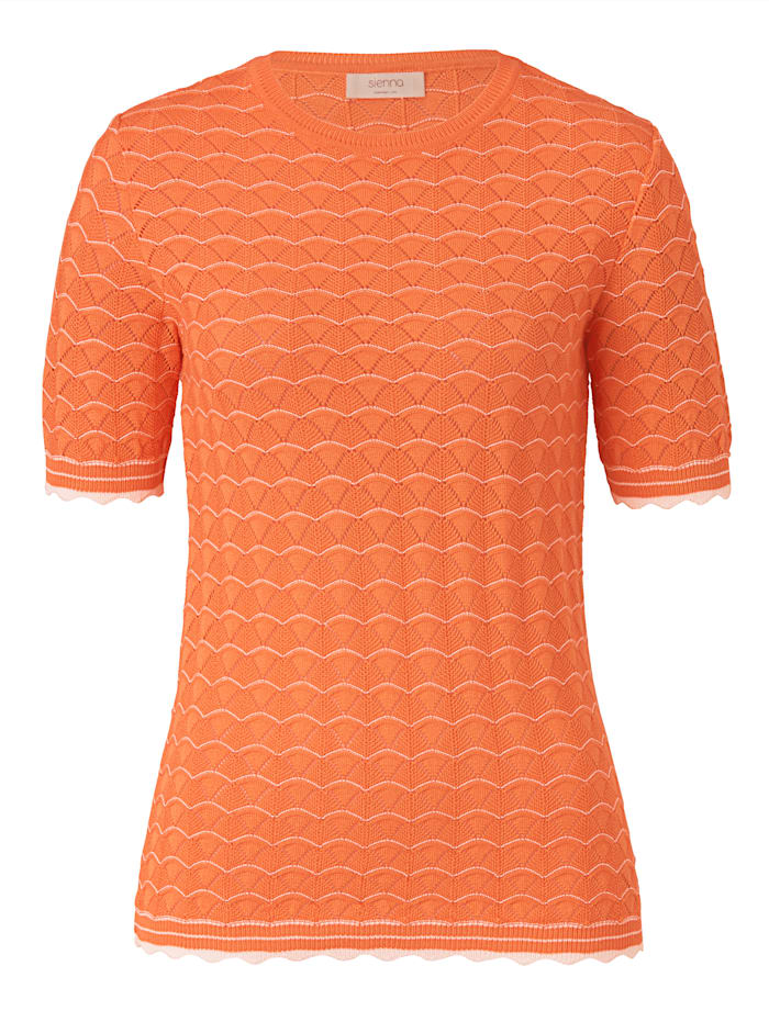SIENNA Strickshirt, Orange