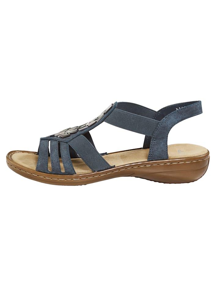 Sandale mit attraktiver Applikation