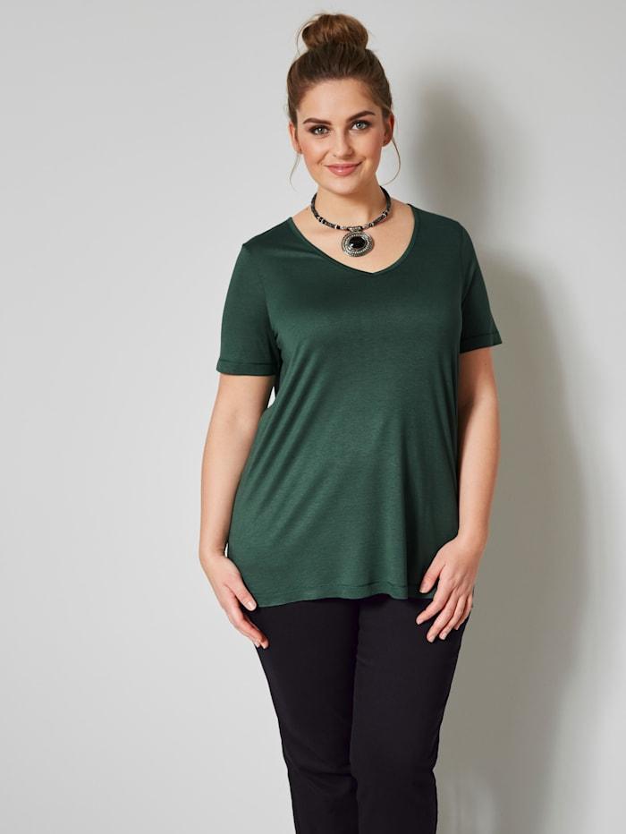 Janet & Joyce Shirt aus reiner Viskose, Tannengrün