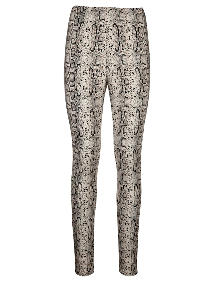 AMY VERMONT Leggings in Schlangenprint, Beige/Braun