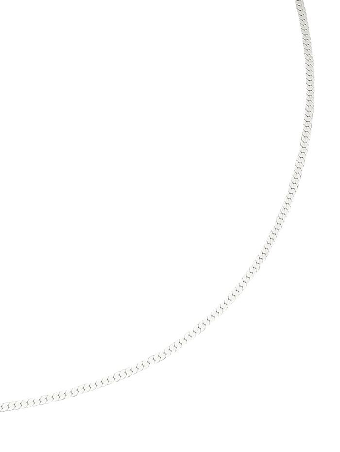 Flachpanzerkette in Weißgold, Weiß