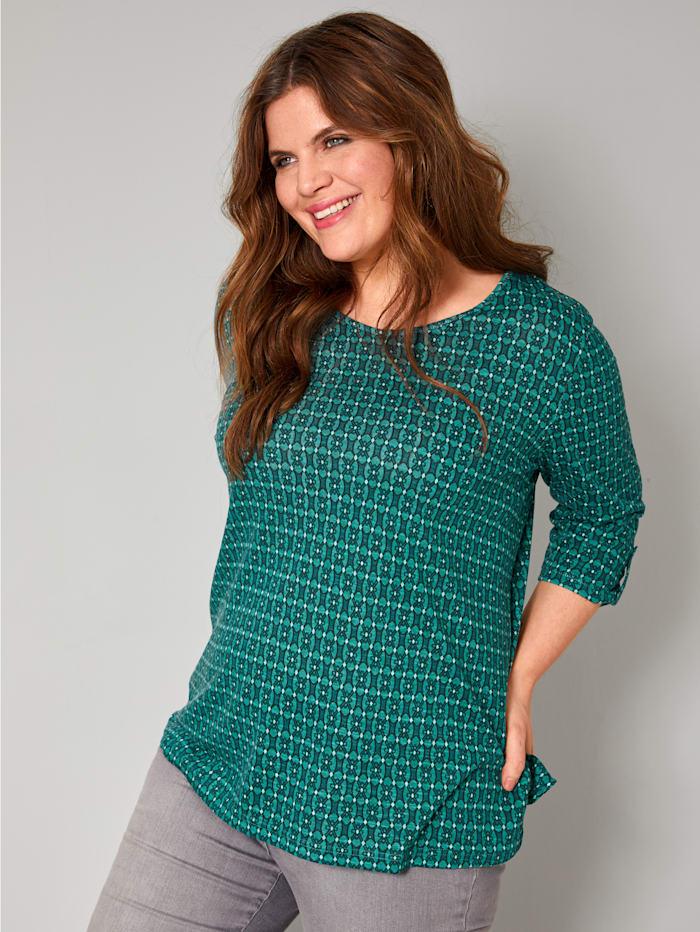Janet & Joyce Shirt mit grafischem Druck, Grün