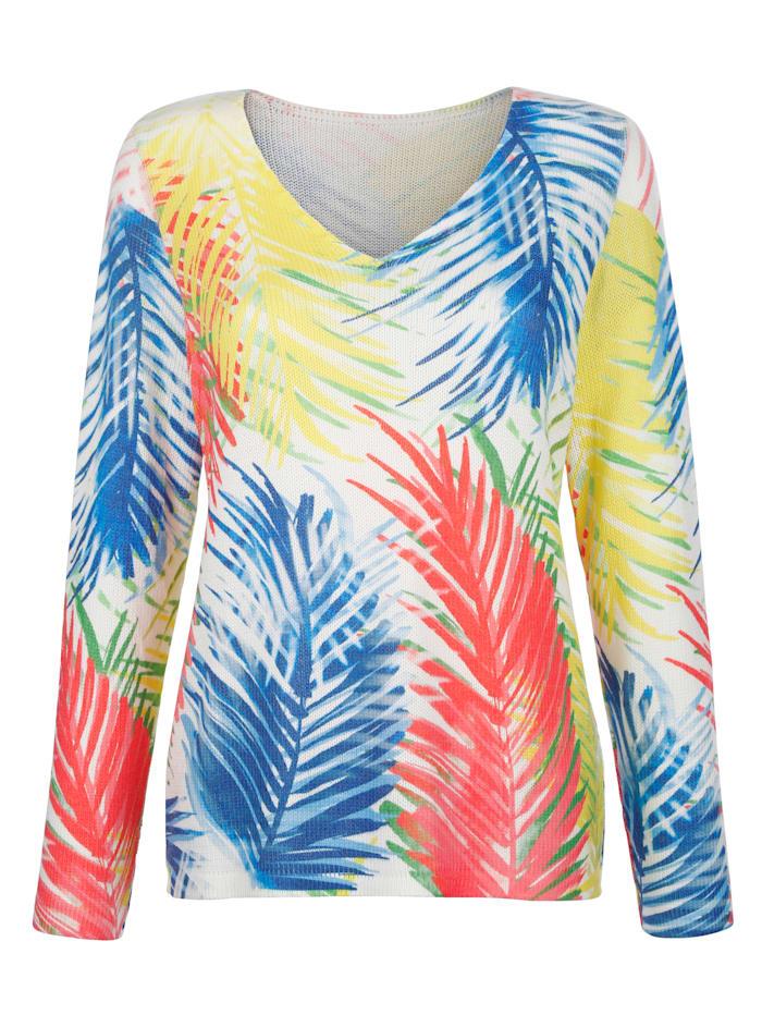 Pullover mit Palmen-Druck