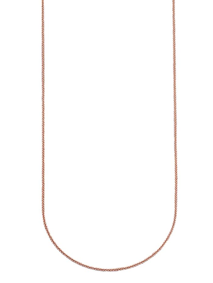 Diemer Gold Zopfkette in Roségold, Rosé