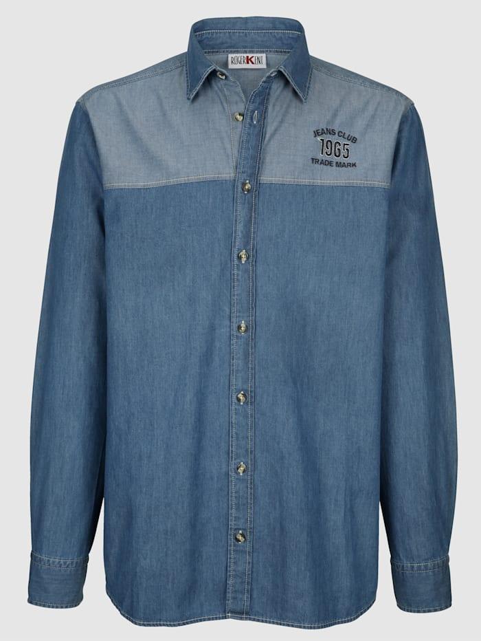 Jeansskjorta med markant axelparti