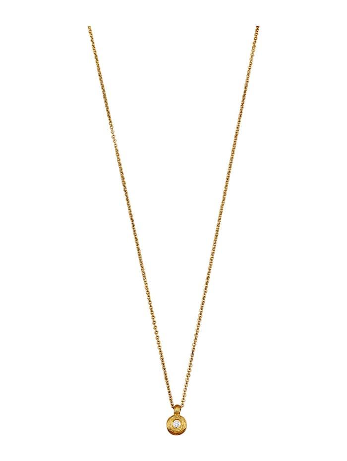 Amara Diamants Pendentif + chaîne avec chaîne, Coloris or jaune