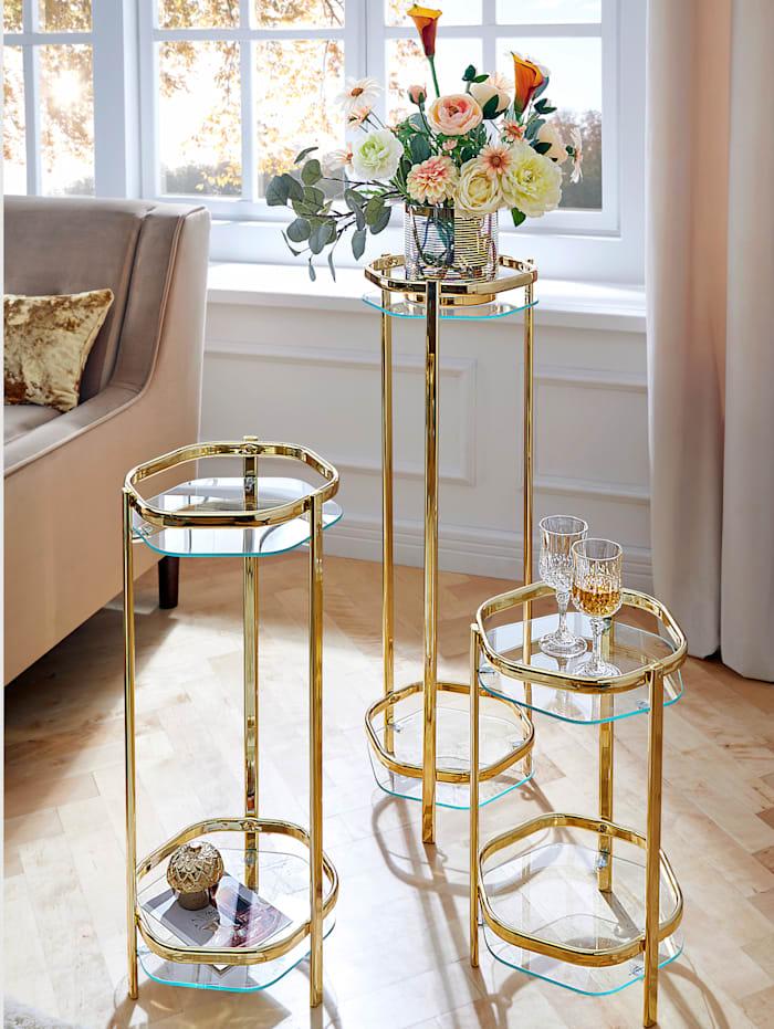 TopHome Blumenständer Caro, Goldfarben