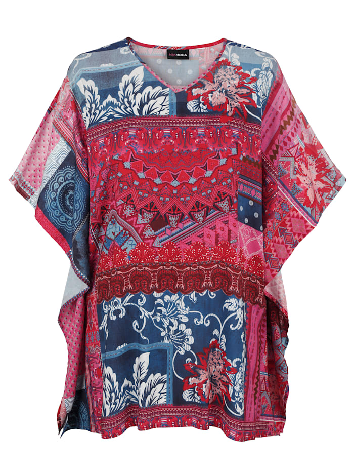 MIAMODA Tuniek met puntige zoom, Multicolor