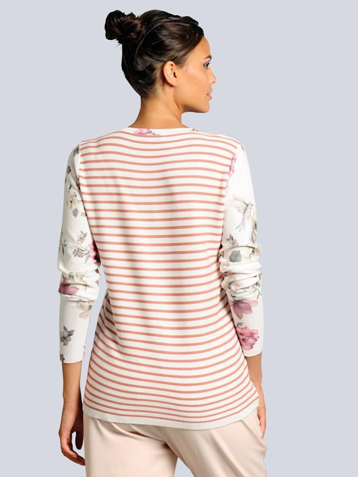 Pullover mit einem malerischem Blumendruck