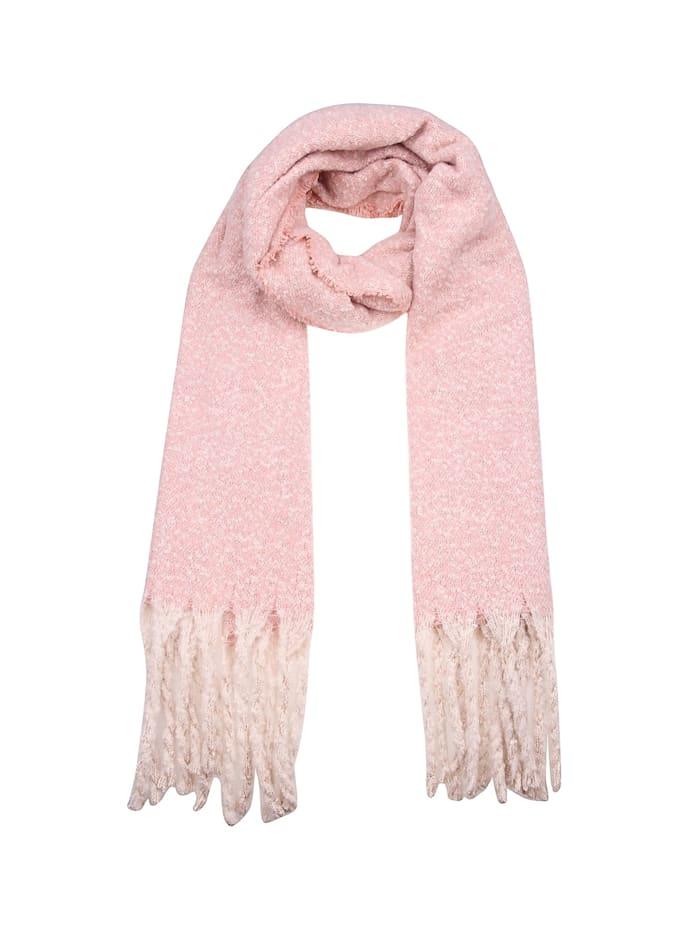 Leslii Schal mit modischen Fransen, rosa