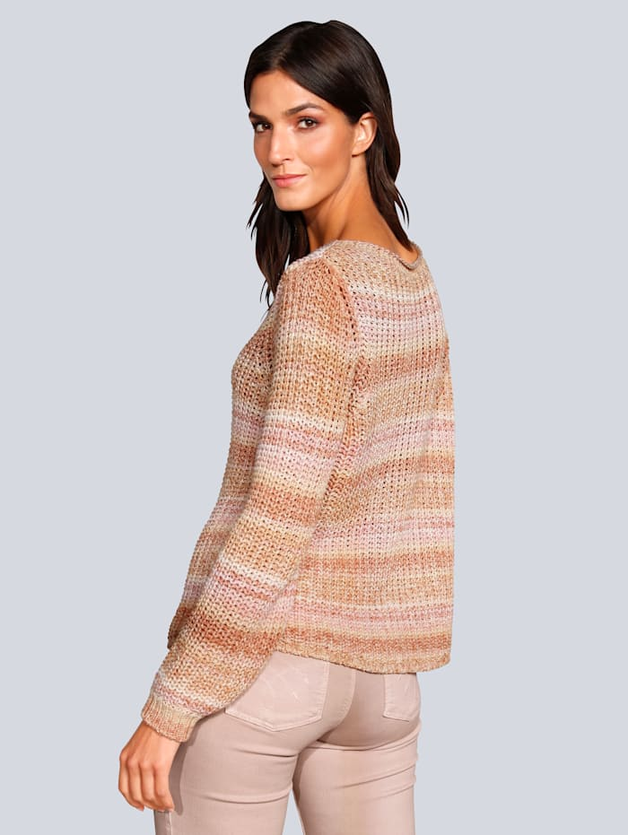 Pullover im Perlfangstrick