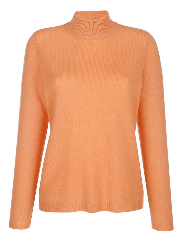 MONA Pullover aus reinem Kaschmir, Apricot