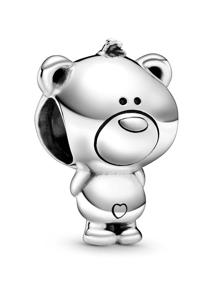 Pandora Charm - Theo, der Teddybär - 798695C00, Silberfarben