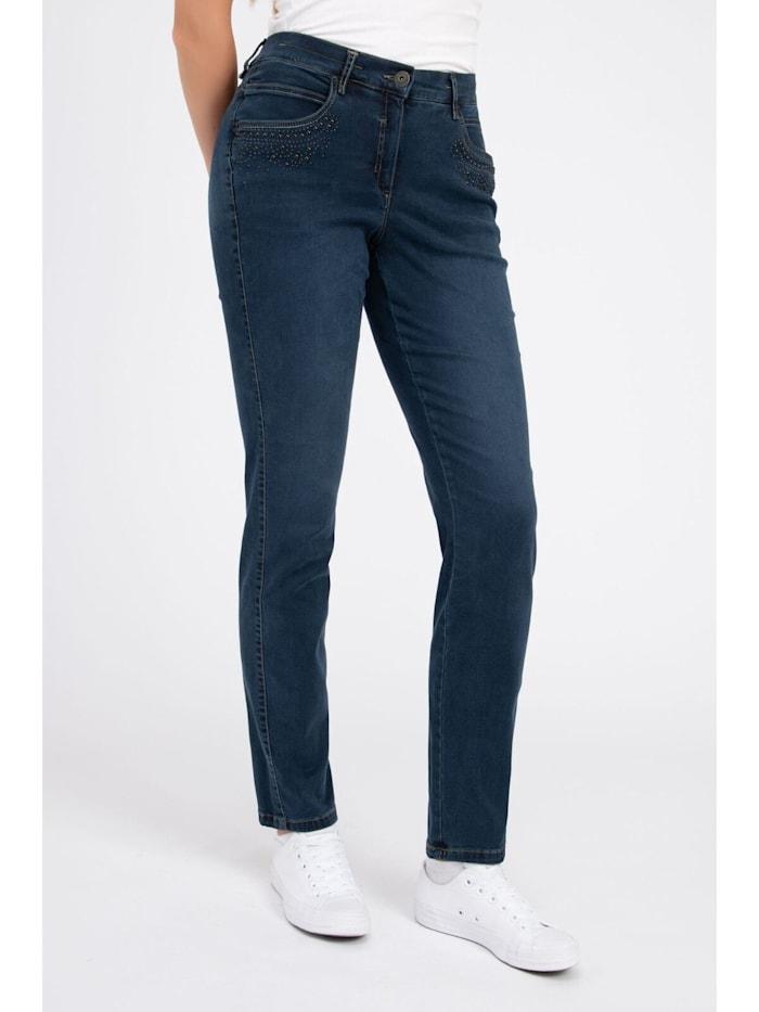 Jeans mit Zierperlen