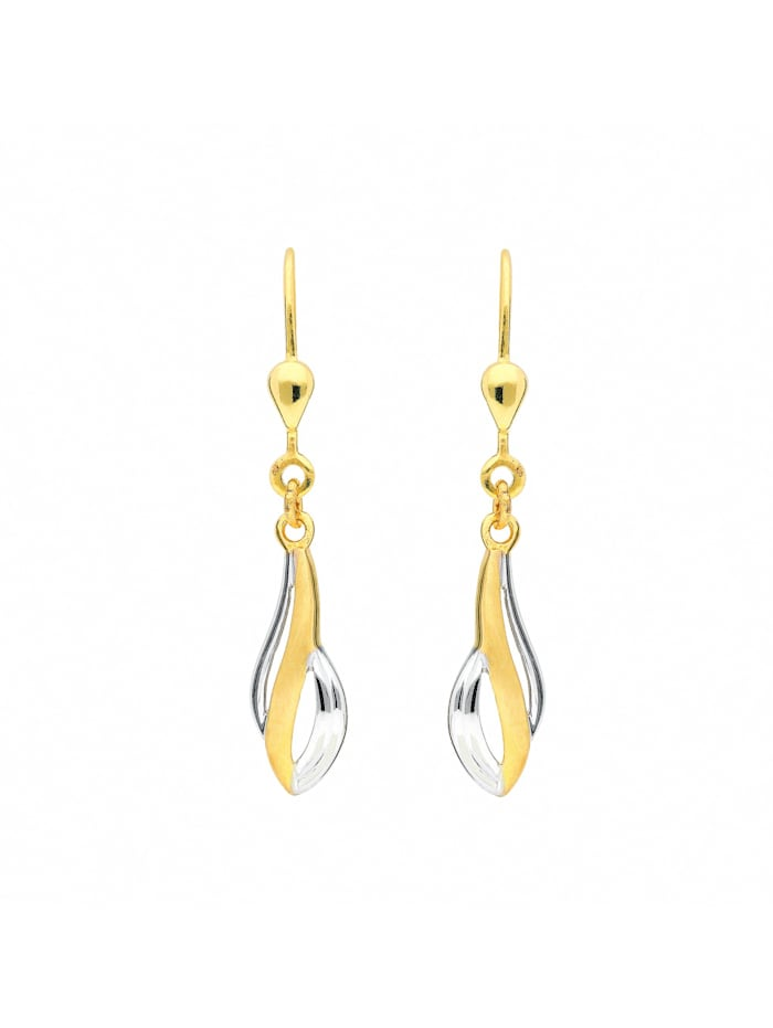 1001 Diamonds 1001 Diamonds Damen Goldschmuck 333 Gold Ohrringe / Ohrhänger, gold