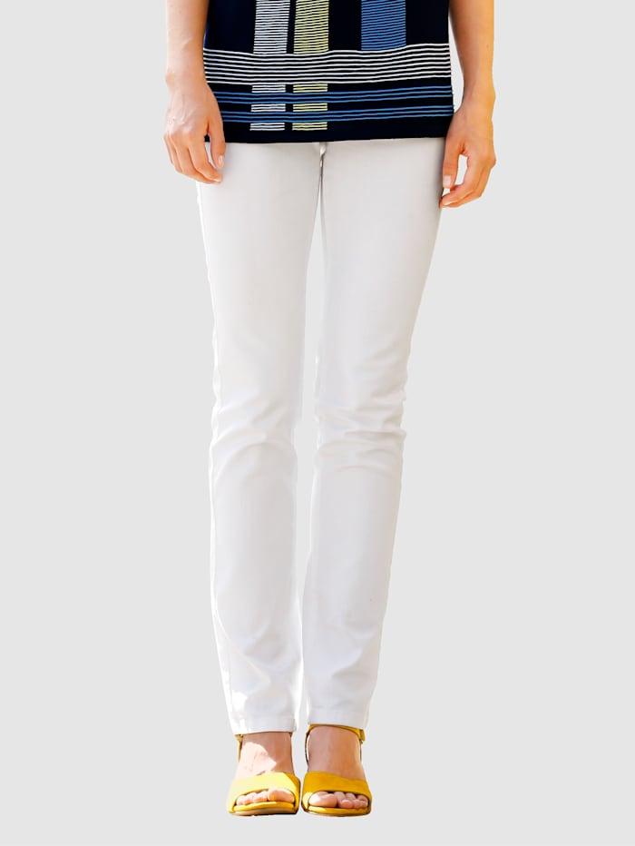 Paola Pantalon orné de strass, Blanc