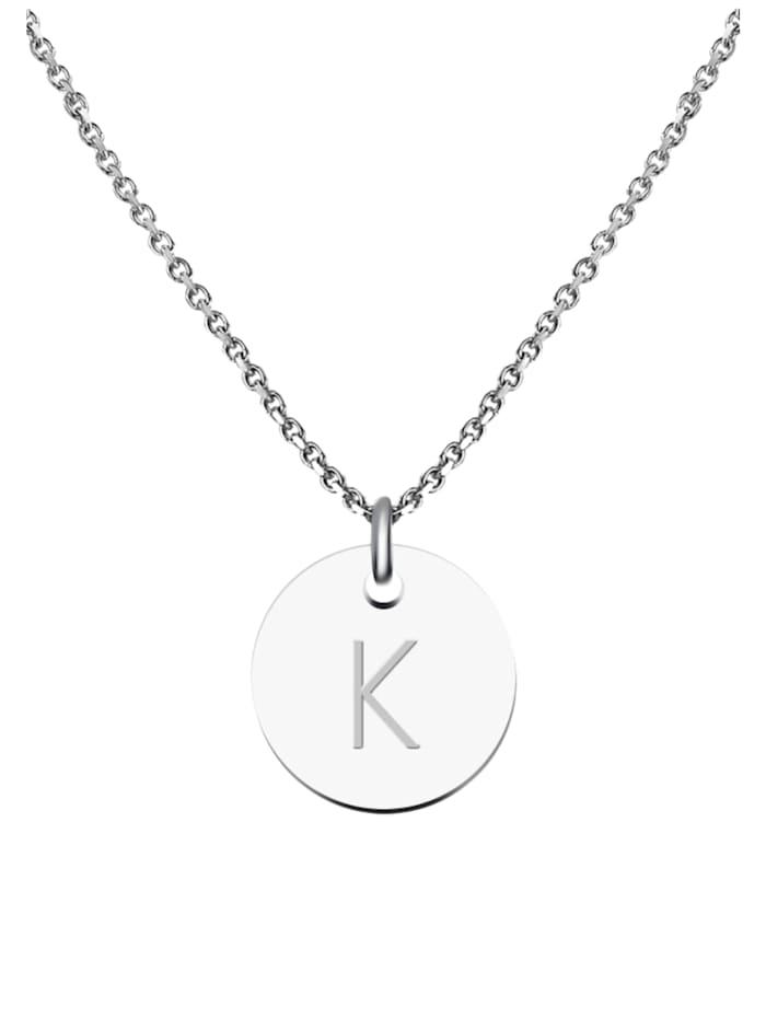 GOOD.designs Kette mit Anhänger Edelstahl Halskette K, silber