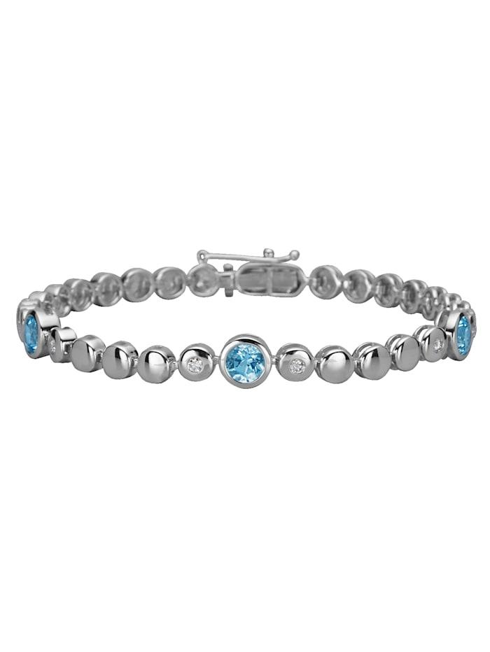 Armband mit Aquamarinen